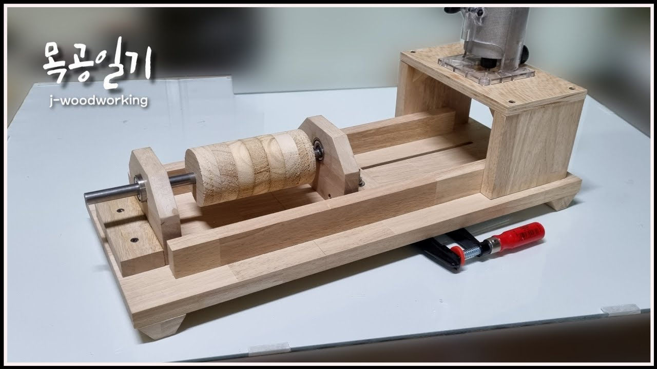 precise drum making jig for DIY drum sanders / driven by drill [woodworking]