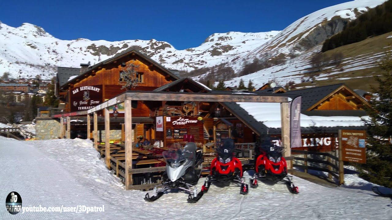 4k) les sybelles ski resort in saint sorlin d'arves, france - youtube