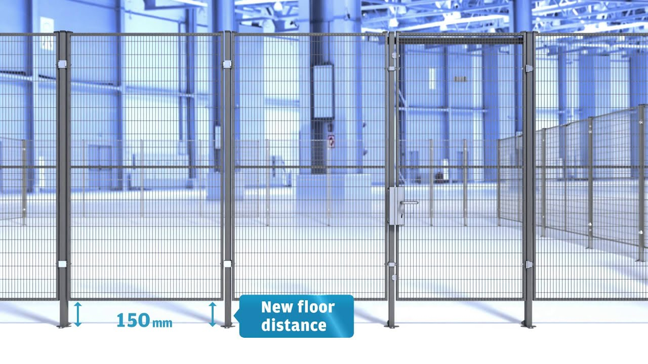 Troax New Panel Height For Lower Floor Distance Youtube