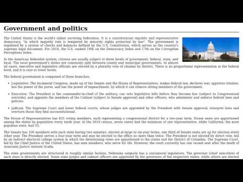 United States - Government and politics