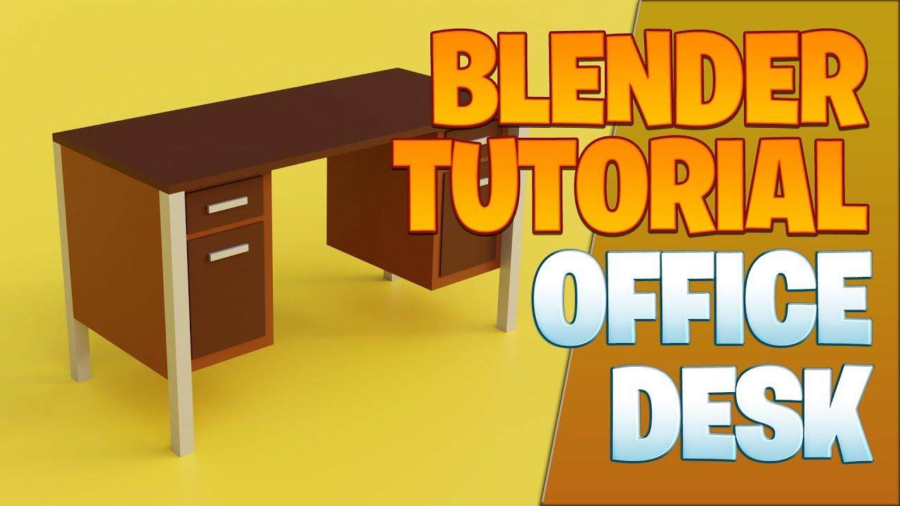 Office Desk Blender Tutorial Youtube