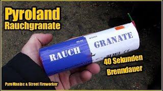 Pyroland Rauchgranate Blau/Weiß | PyroManiac & Street Fireworker