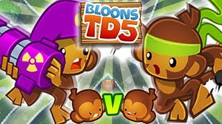 CO-OP | MILITARY VS PRIMARY | #77 | Bloons TD5 PL