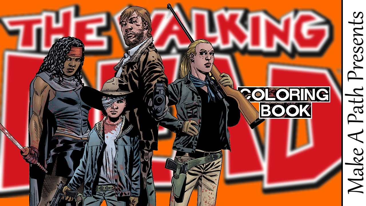 The Walking Dead Comic Coloring Book Review Youtube