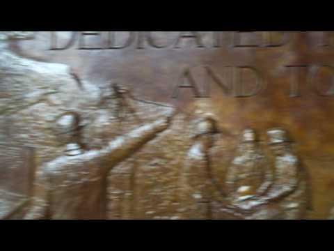 WTC Ground Zero Arthur Gregory, @ Firefighters Bronze Memorial Wed 7/22/09