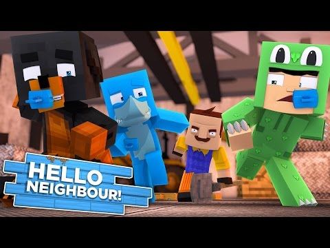 Minecraft BABY HELLO NEIGHBOUR - THE NEIGHBOUR HAS LITTLE KELLY & CARLY TRAPPED IN HIS BASEMENT!!!!