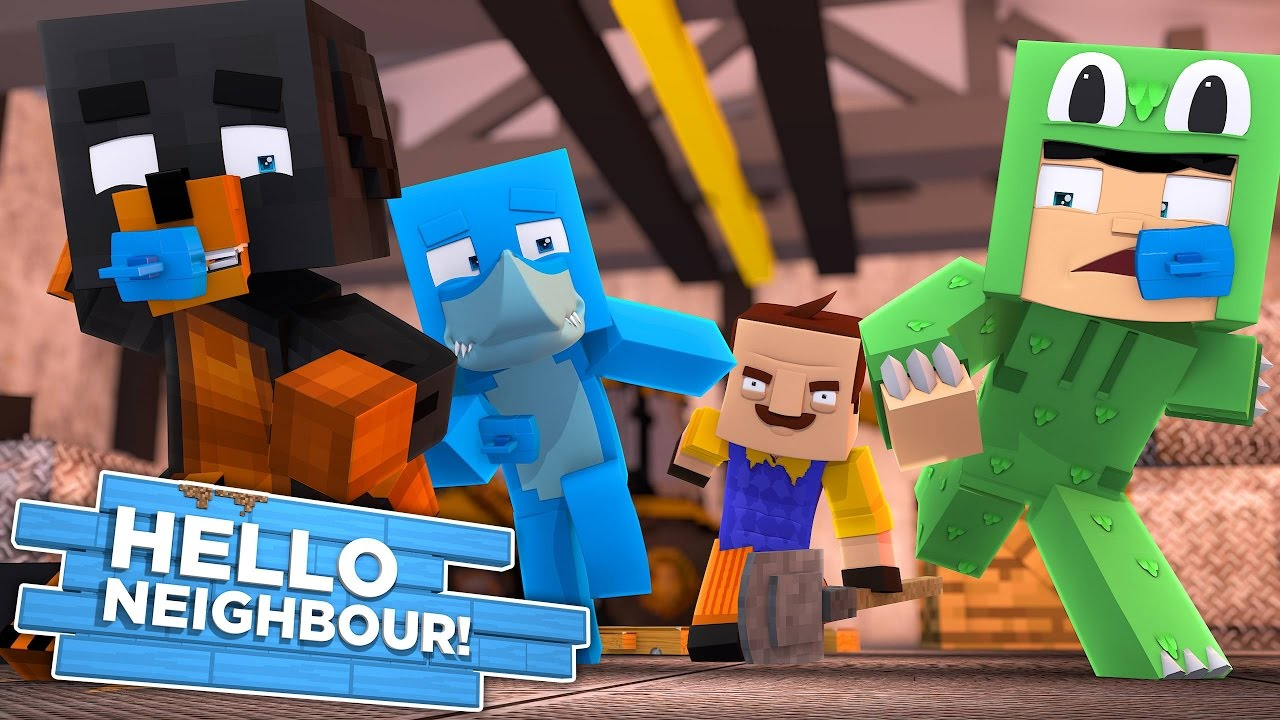 Minecraft BABY HELLO NEIGHBOUR – THE NEIGHBOUR HAS LITTLE KELLY & CARLY TRAPPED IN HIS BASEMENT!!!!