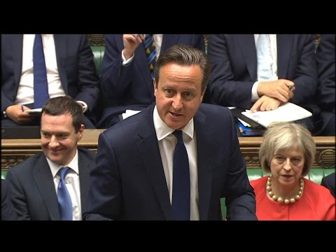 Prime Minister David Cameron Speaks In House Of Commons On Resettling Refugees And On Syria