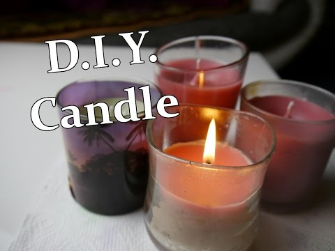D.I.Y. Candle through leftover candle wax