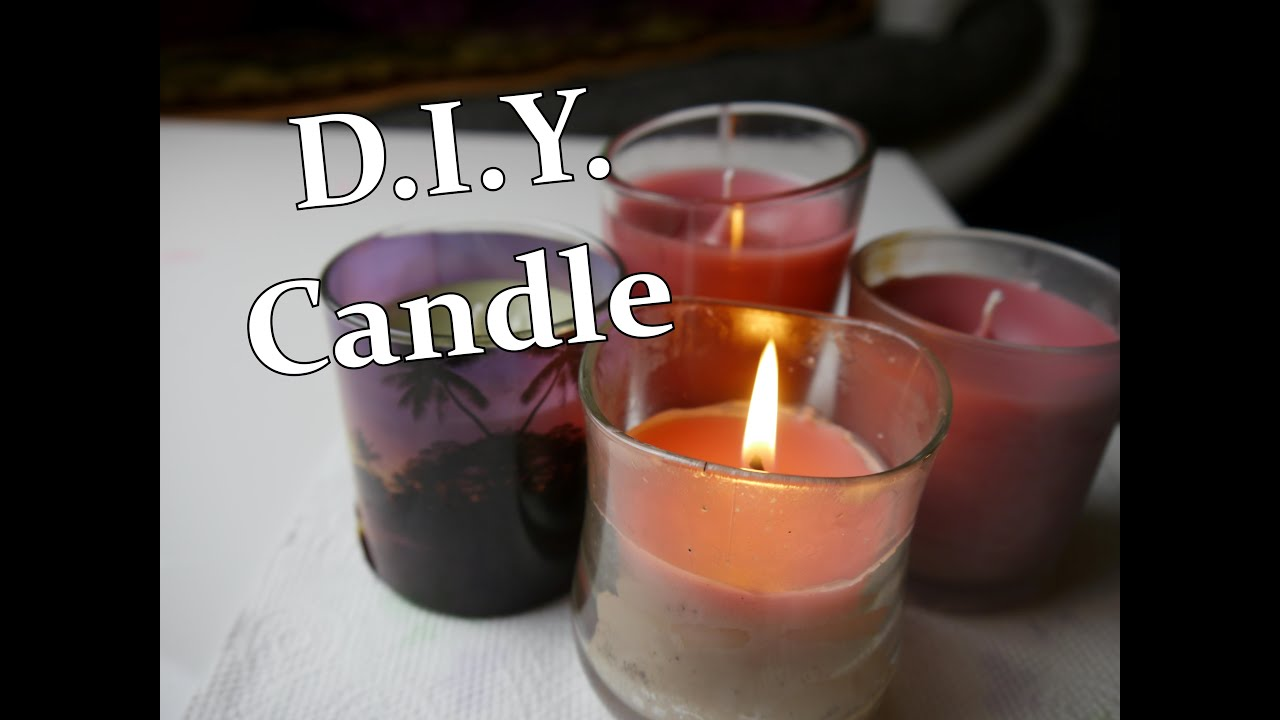 d i y candle through leftover candle wax youtube. Black Bedroom Furniture Sets. Home Design Ideas