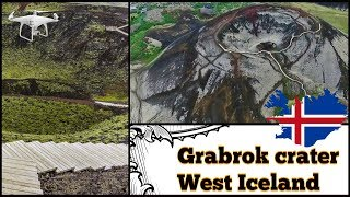 Crater Grabrok West Iceland  ( Stóru-Grábrók ) near Bifrost village, aerial video from drone(Crater Grabrok (Storu-Grábrók) is located just off the No. 1 western Iceland in the middle of the Snaefellsnes peninsula in the vicinity of the village Bifrost., 2016-10-23T15:47:24.000Z)