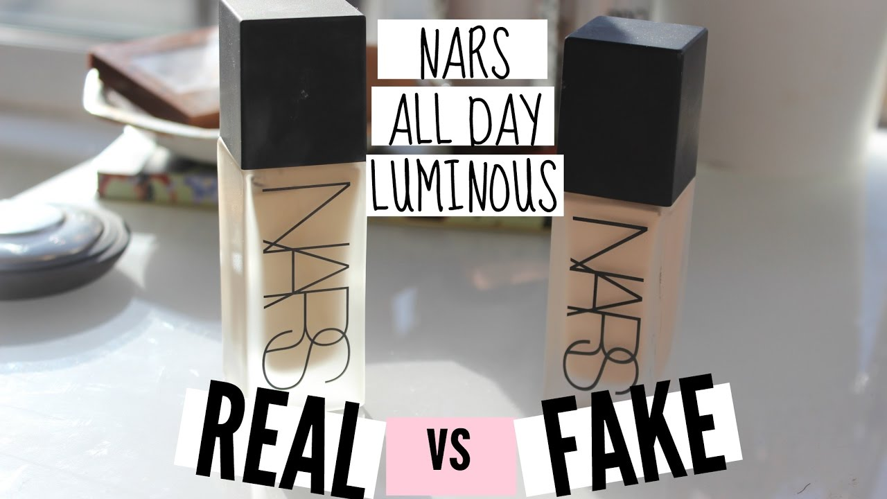 Real V Fake Nars All Day Luminous Weightless Foundation
