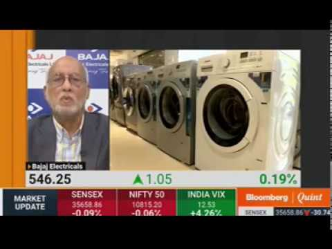 Bajaj Electricals Limited CMD - Mr.Shekhar Bajaj on Bloomberg Quint Indian