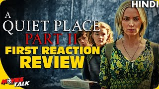 A QUIET PLACE 2 : First Reaction Review [Explained In Hindi]