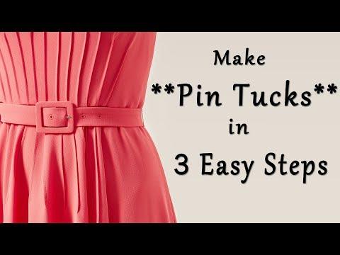 Make Pin Tucks in 3 Easy Steps  Sewing Tips & Tricks