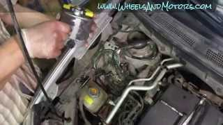 How to replace fuel filter for Nissan X-Trail T31 (diesel)