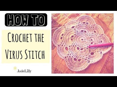 Virus Stitch Crochet Tutorial - Part 1 (Square)