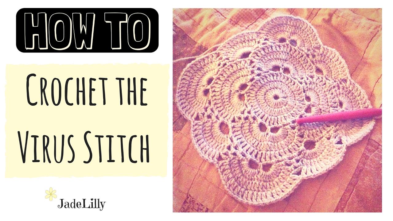 Virus Stitch Crochet Tutorial - Part 1 (Square) - YouTube