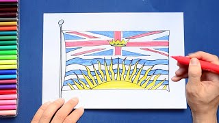 How to draw and color the Flag of British Columbia, Canada