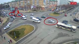 Бульвар-Машерова. ДТП. 15.03.2018. Брест.