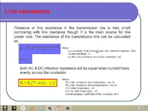 Electric Transmission Line Parameters 1 - Resistance Calculation