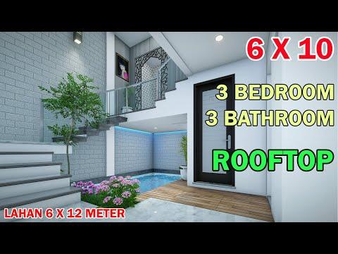 split-level-house-6x10-meter-3-kamar-3-toilet-mushola-swimming-pool-rooftop-di-lahan-6x12-meter