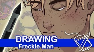 Drawing: Freckle Man ❤️❤️❤️