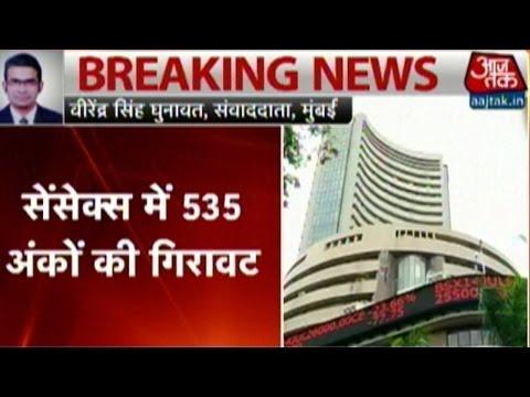 Sensex Plunges Over 500 Points