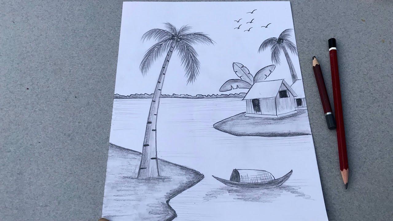 vẽ tranh phong cảnh bằng bút chì | How to draw scenery with pencil | Tổng hợp những tài liệu liên quan đến vẽ tranh phong cảnh làng quê bằng bút chì đầy đủ nhất