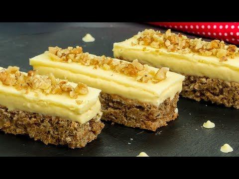 Una torta deliziosa e molto facile da preparare: la torta di noci e cioccolato! | Saporito.TV