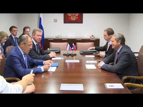 Sergey Lavrov and Karl Erjavec | С.В.Лавров и К.Эрьявец