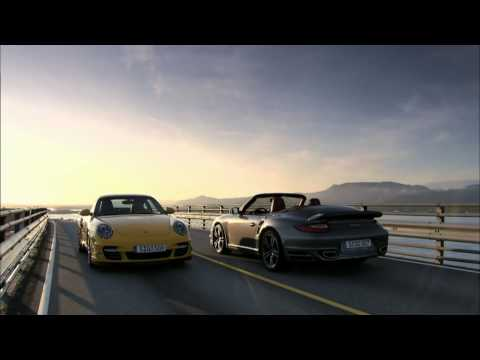 2009 Porsche 911 Turbo in action