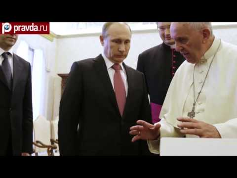 Pope Francis gives Putin 'angel of peace'