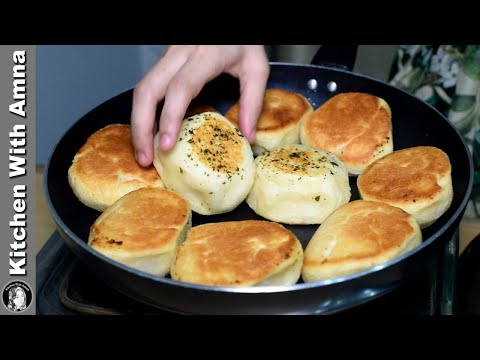 Garlic Dinner Rolls Without Oven - Soft Fluffy Bread Rolls Recipe - Kitchen With Amna
