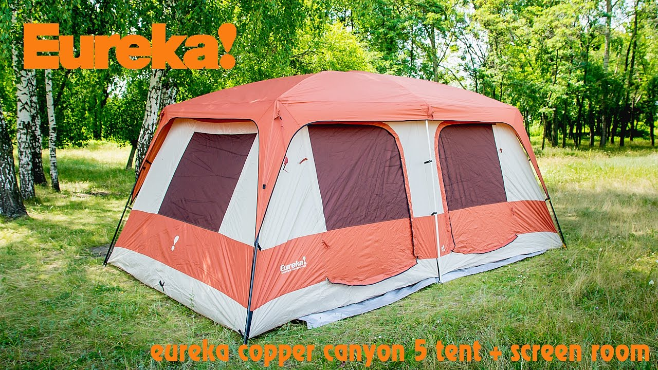 eureka copper canyon 5 tent + screen room & eureka copper canyon 5 tent + screen room - YouTube