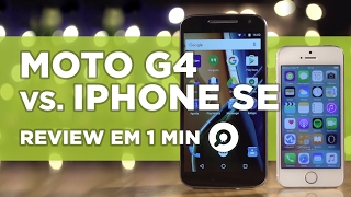 Moto G4 vs iPhone SE - COMPARATIVO | REVIEW EM 1 MINUTO - ZOOM