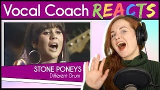 Vocal Coach reacts to Stone Poneys - Different Drum (Linda Ronstandt Live)