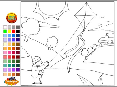 Kites Coloring Pages For Kids