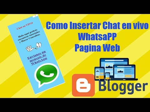 Como Insertar Chat En Vivo Whatsapp Pagina Web Blogger