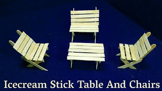 Icecream Stick Craft Idea | Best out Of Waste | DIY Arts And Crafts | Icecream Stick Dining Table