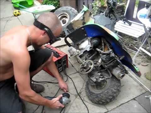 110cc 4 Wheeler Engine Diagram Repairing A Chinese Quad Broken Frame No Chain Not Been
