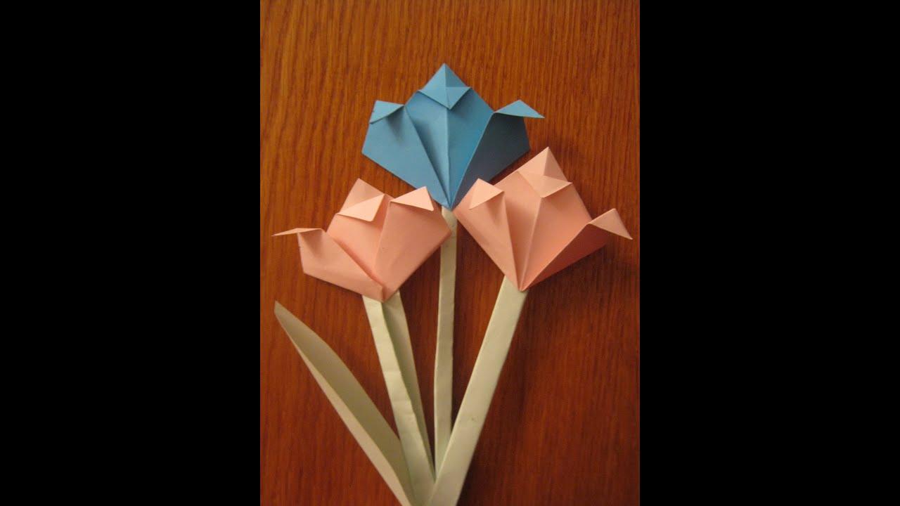 Оригами открытка 8 марта, для
