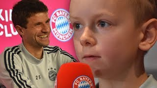 How many goals did you score in the U11 team? Thomas Müller answers kids questions