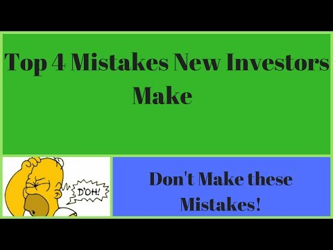 Top 4 mistakes that beginner stock market investors make!