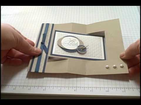 Swing Card Tutorial: Swing cards are so much fun to make! Follow this step by step tutorial and you will be creating this fancy fold card in no time.