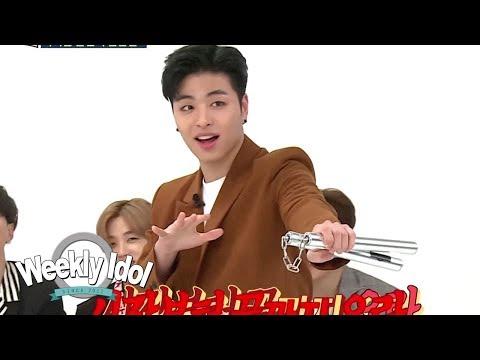 iKON Junhoe, Master of Nunchucks [Weekly Idol Ep 341]