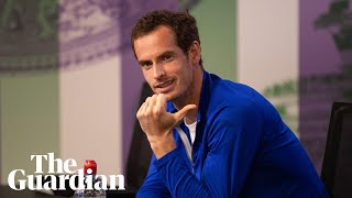 Andy Murray's press conference interrupted by World Cup fans