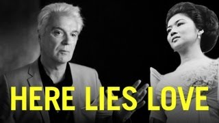 David Byrne Discos w/ Imelda Marcos in HERE LIES LOVE
