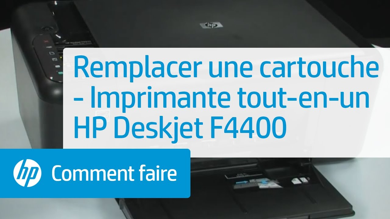 remplacer une cartouche imprimante tout en un hp deskjet f4400 youtube. Black Bedroom Furniture Sets. Home Design Ideas