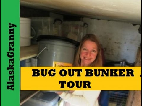 Bug Out Bunker Tour- Stockpiling Emergency Supplies Bug Out Location